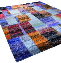 Dieses Bild zeigt den Dhingri Silk-Patch Teppich