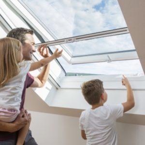 Dieses Bild Zeigt die Insektenschutzvariante DachfensterrolloDieses Bild Zeigt die Insektenschutzvariante Dachfensterrollo
